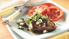 Grilled Greek-Style Steak (Cooking for 2)