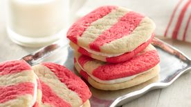 Striped Peppermint Sandwich Cookies
