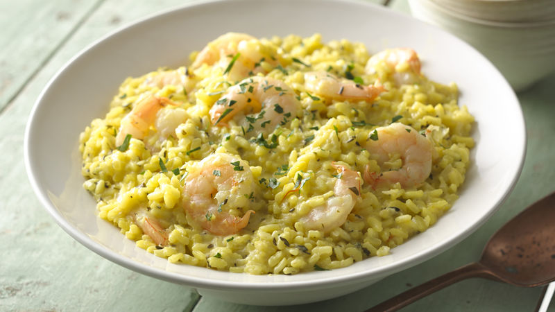 Saffron-Shrimp Risotto