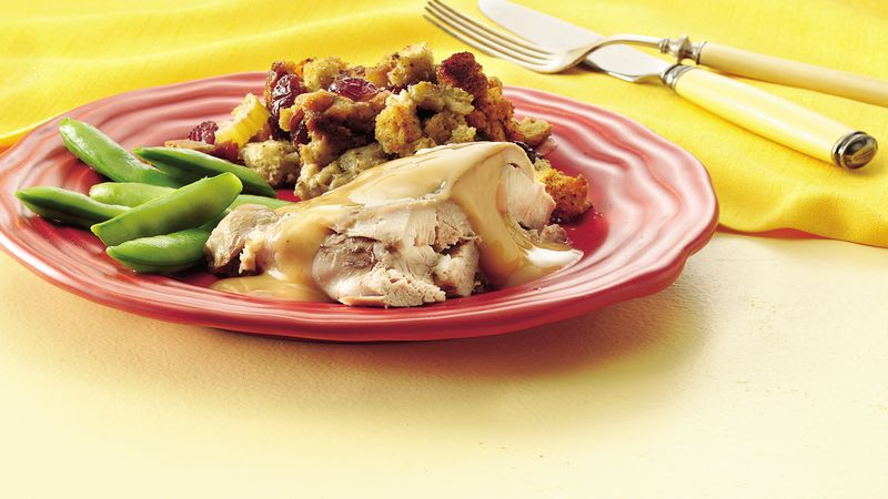 Turkey with Cranberry Stuffing