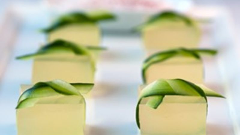 Cucumber Lime Margarita Jello Shots