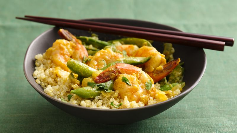 Skinny Thai Shrimp and Quinoa Curry