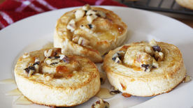 Fig, Brie and Honey Pinwheels