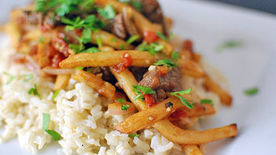 Peruvian Steak and French Fry Stir-Fry
