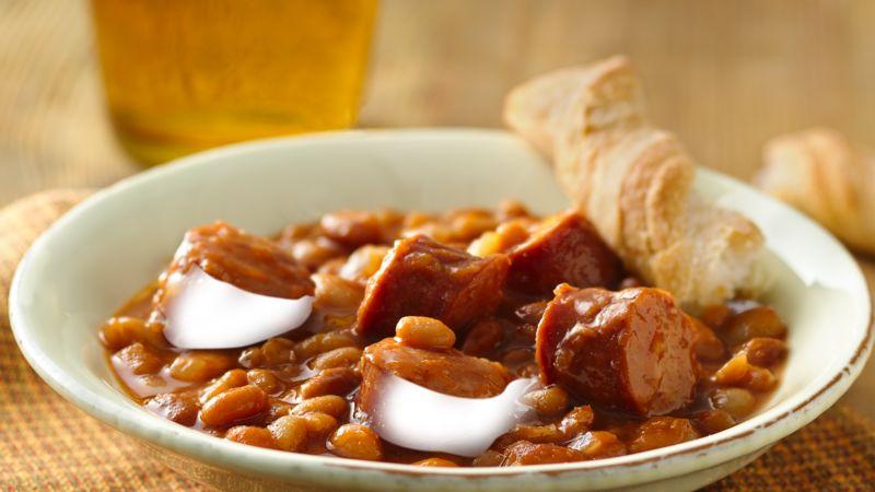 Baked Beans With Smoked Sausage Recipe Pillsbury Com