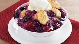 Mixed Berry-Ginger Cobbler