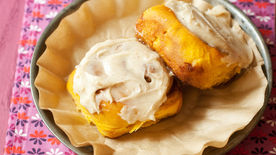 Overnight Pumpkin Spice Rolls with Cream Cheese Icing