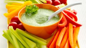 Gluten-Free Creamy Kale Dip with Veggie Dippers