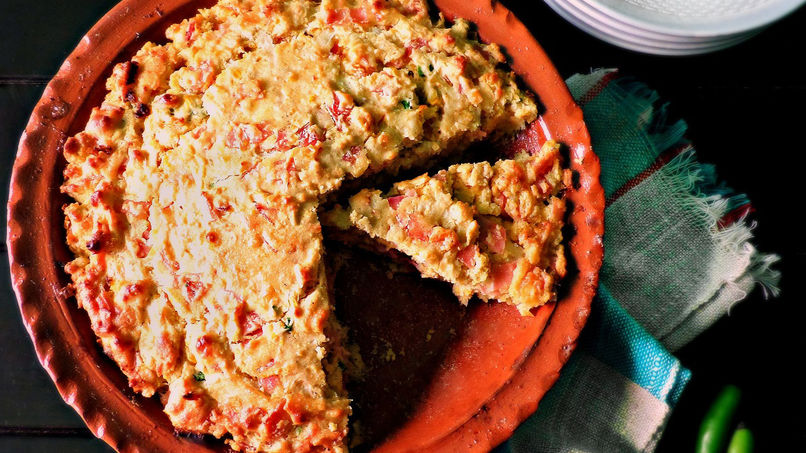 Ham and Green Chile Pepper Cornbread