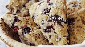 Skinny Warm Blueberry Scones