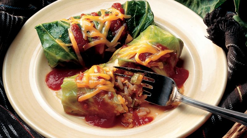 Vegetarian Cabbage Rolls Recipe Bettycrocker Com