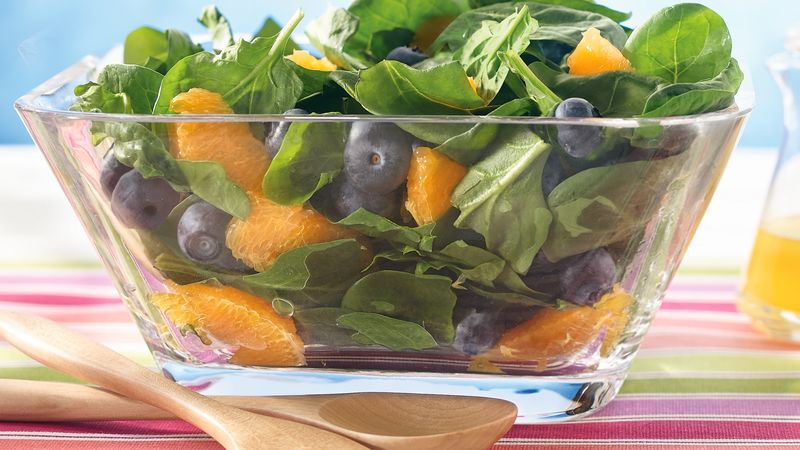 Blueberry and Orange Spinach Salad