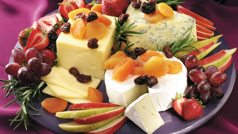 Easy Cheese and Fruit Platter