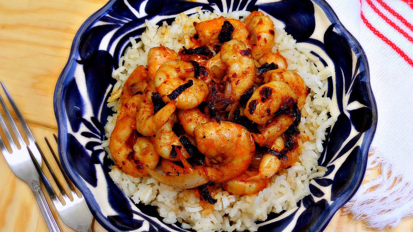 Shrimp and Ancho Pepper Stir-Fry