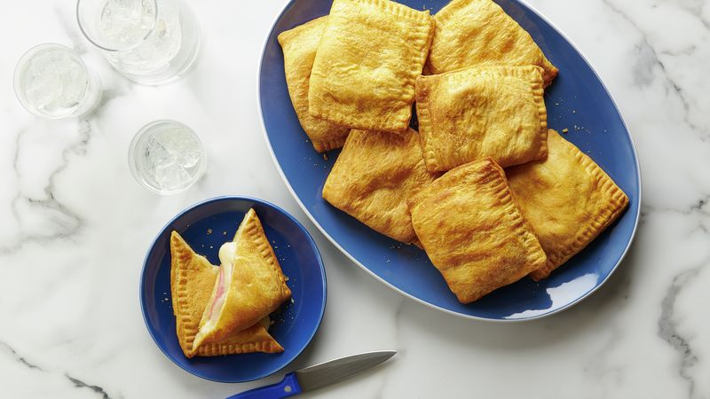 Air Fryer Grilled Cheese and Ham Crescent Pockets