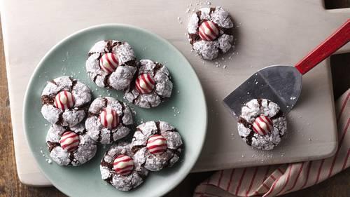 Chocolate Mint Crinkles image
