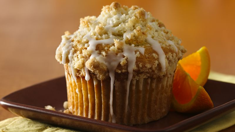 Glazed Lemon-Crumb Muffins