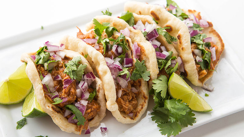 Slow-Cooker Chicken Mini Gorditas