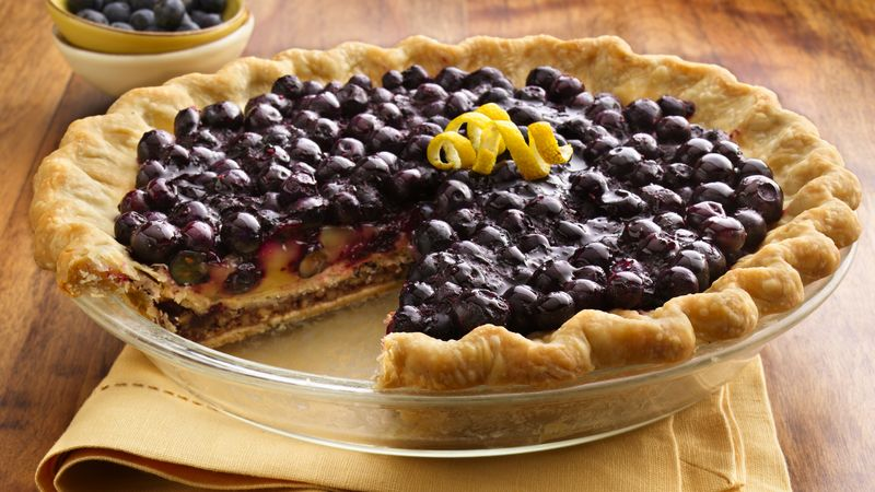 Double-Bottom Blueberry, Lemon and Pecan Pie