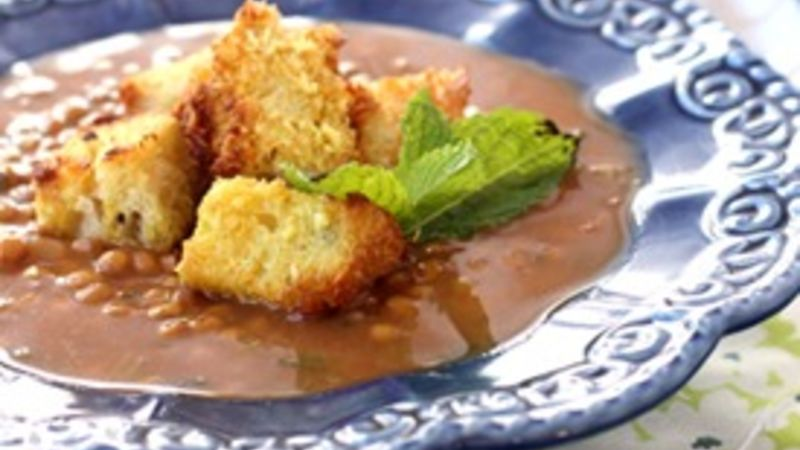 Homemade Coconut Curry Croutons