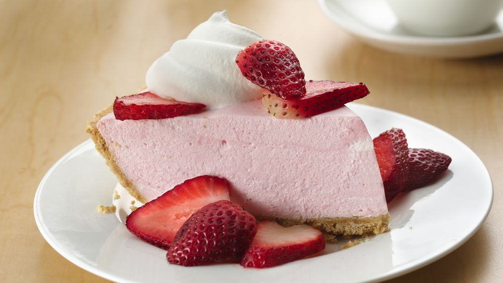 Creamy No-Bake Strawberry Pie