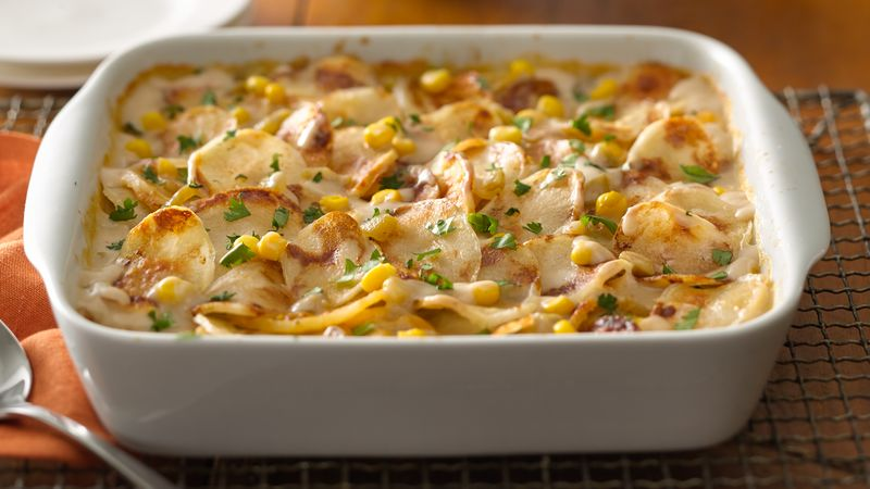 Mexican White Cheddar Potatoes