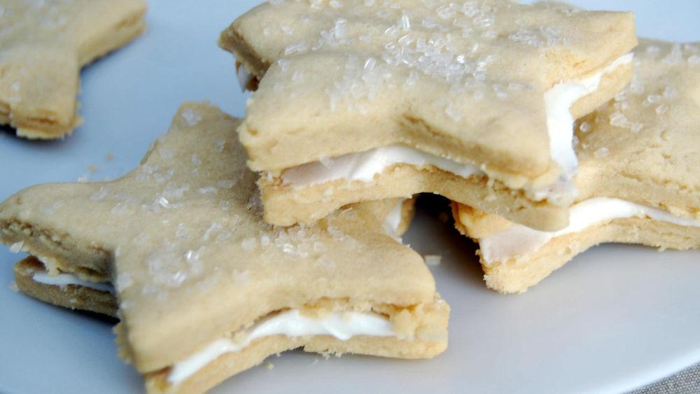 Mint Buttercream Sandwich Cookies