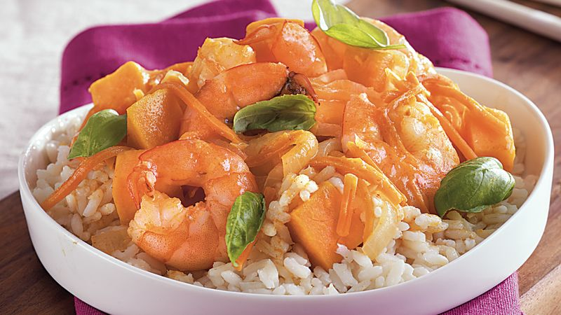 Thai Shrimp Sweet Potato Curry