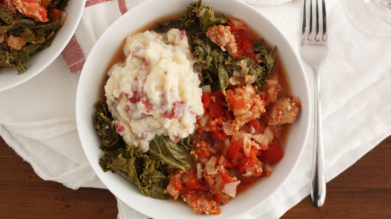 Slow-Cooker Sausage and Kale Stew