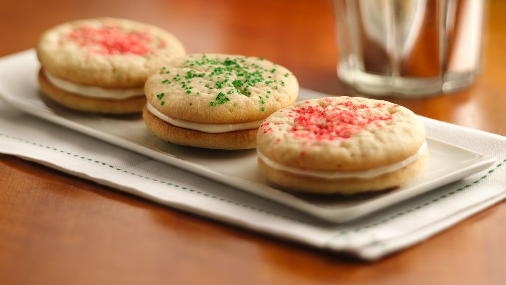 Christmas Sugar Cookie Sandwich Cookies