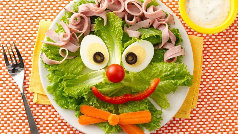 Clown Face Salad Recipe BettyCrockercom
