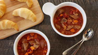 Tomato Beef and Bean Soup