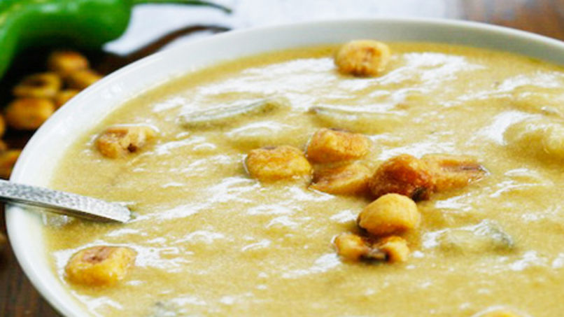 Potato Soup with Green Chile and Yogurt