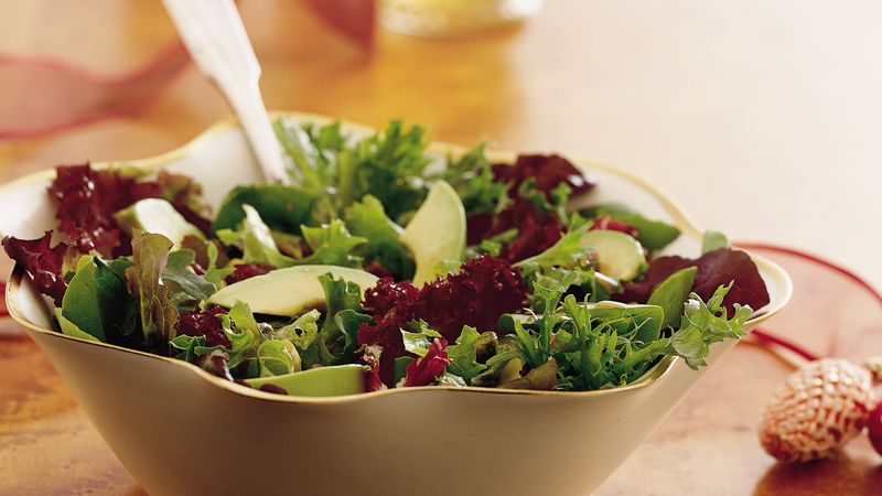 Mixed Baby Greens With Balsamic Vinaigrette Recipe Bettycrocker Com