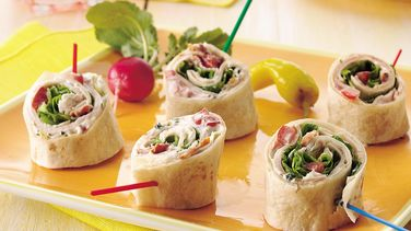 Turkey Club Tortilla Roll-Ups