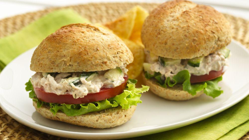 Summer Tuna Salad Sandwiches