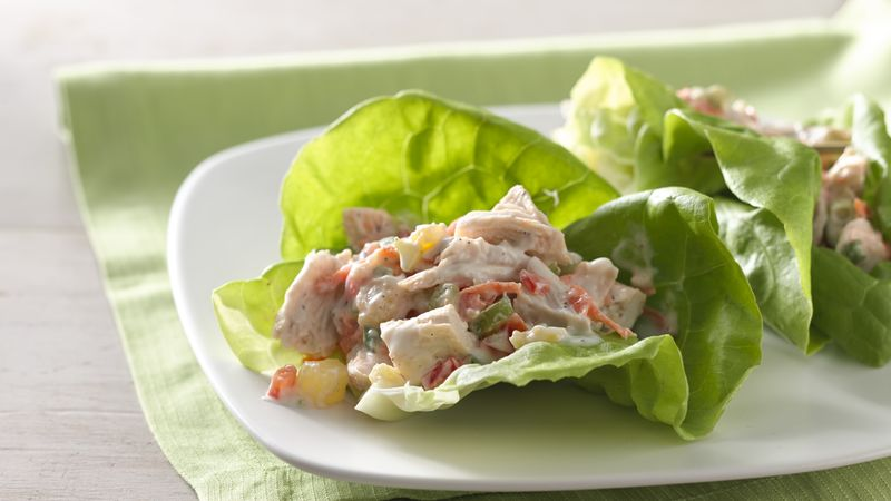 Pineapple Chicken Salad Lettuce Wraps