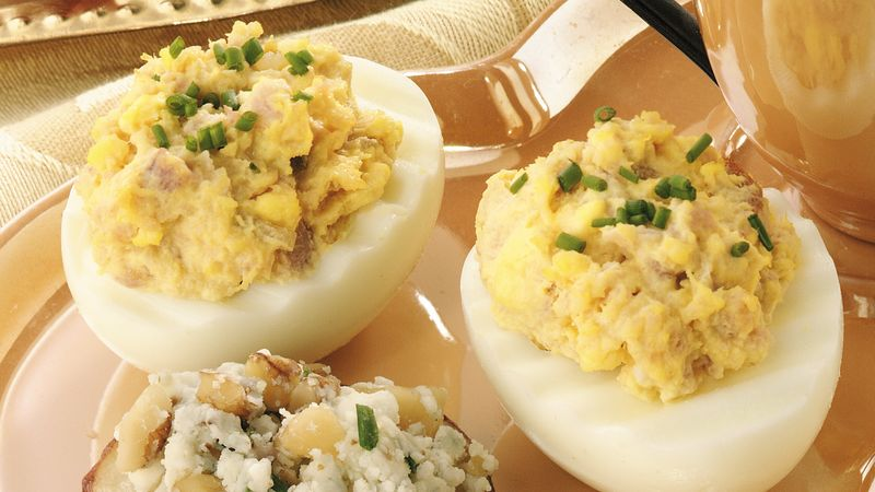 Ham Eggs deviled ham and eggs recipe pillsbury com