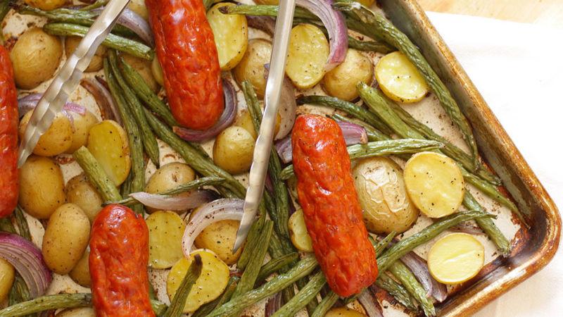 Sausage and Potatoes Sheet-Pan Dinner