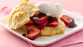 Balsamic Strawberry Shortcakes
