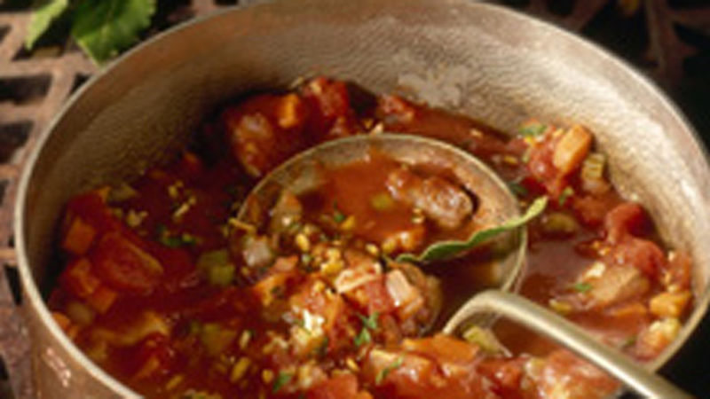Tomato-Turkey Stew with Gremolata