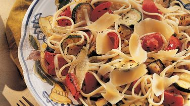 Linguine with Roasted Vegetables
