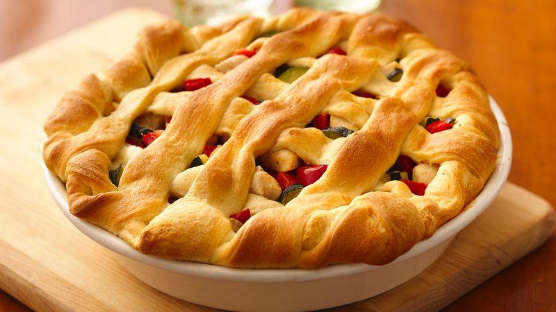 Herbed Chicken Lattice Pot Pie