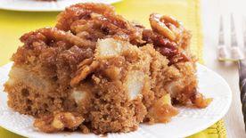 Pear Walnut Upside Down Cake Recipe Bettycrocker Com