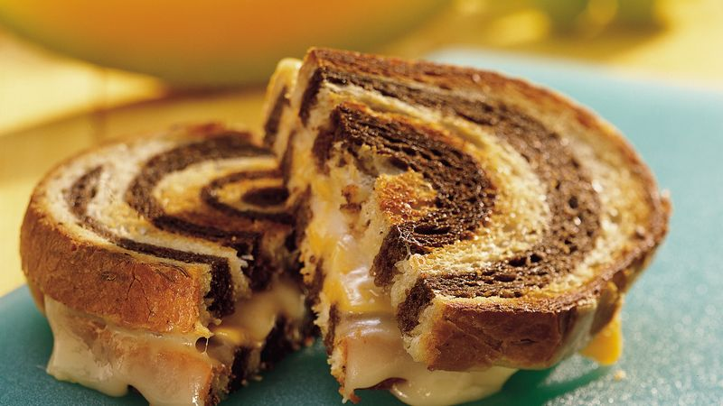 Double-Decker Grilled Cheese Sandwiches