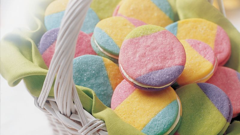Rainbow Egg Cookies