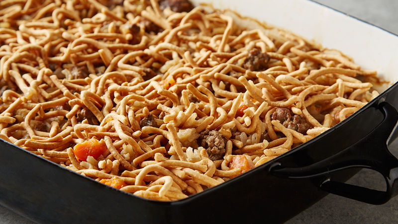 Hamburger-Rice Casserole