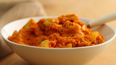 Mashed Sweet Potatoes and Apples