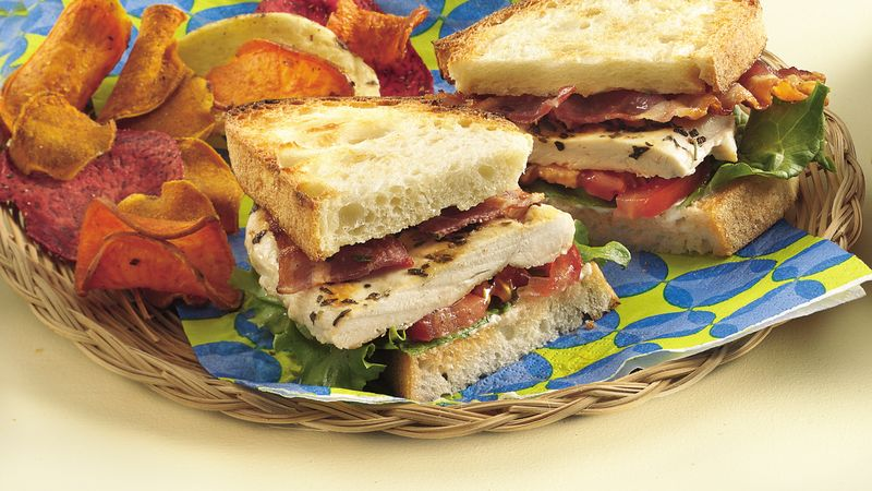 Grilled Chicken Blt Sandwiches Recipe Bettycrocker Com