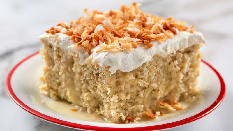 Magnificent Banana Tres Leches Dessert Recipe Bettycrocker Com Funny Birthday Cards Online Inifodamsfinfo